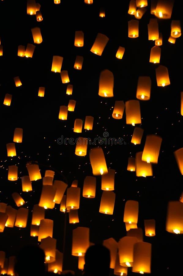 Lanterne traditionnelle de ballon de Newyear photo stock