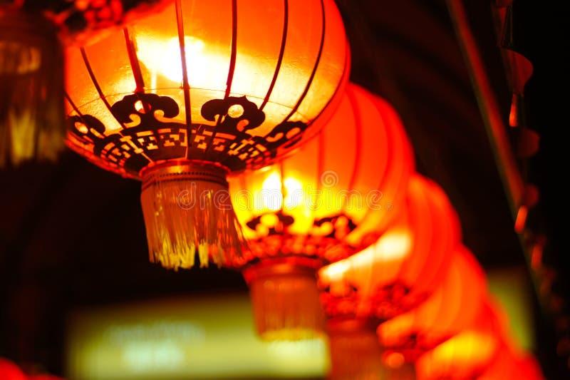 Lanternes asiatiques rouges images libres de droits