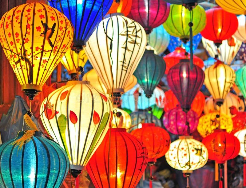 Lanternes asiatiques traditionnelles image libre de droits