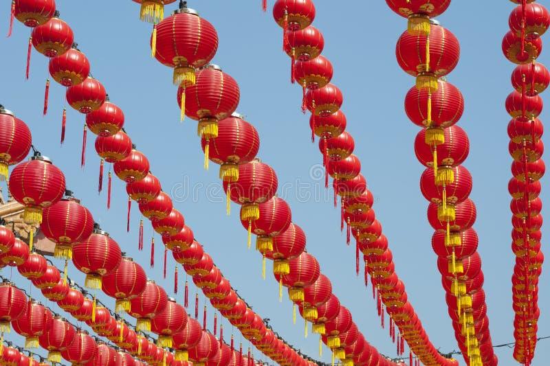 Lanternes chinoises d'an neuf photo stock