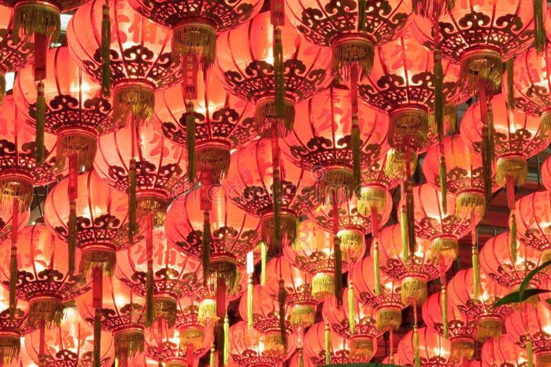 Lanternes chinoises rouges image libre de droits