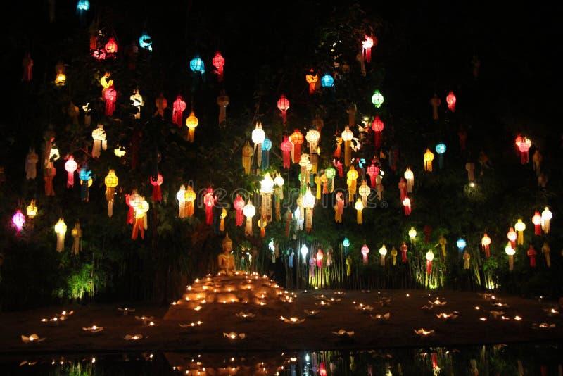 Lanternes d'arbre photos stock