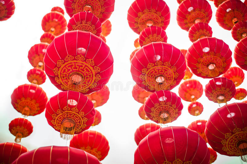 Lanternes de chinois traditionnel ; image stock