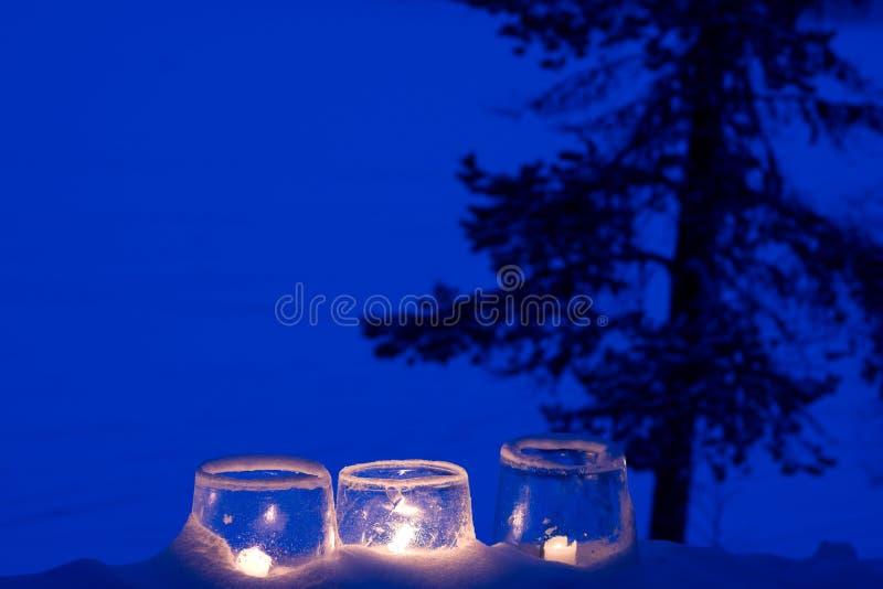 Lanternes de glace image libre de droits
