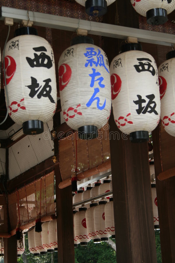 Lanternes de temple photos stock