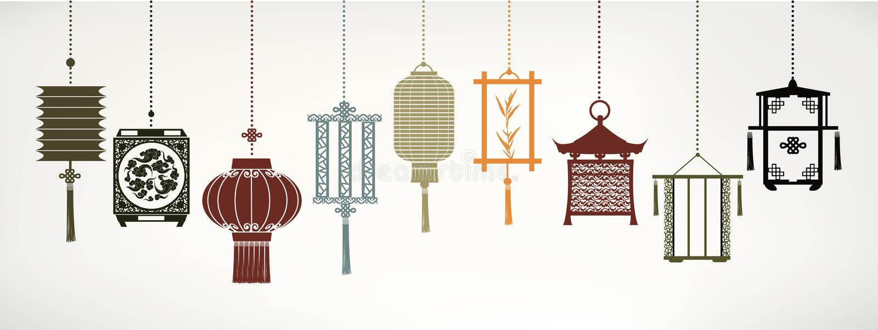 Lanternes de vecteur illustration stock