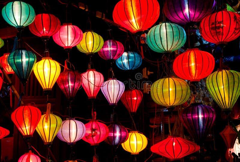 Lanternes en soie photographie stock libre de droits