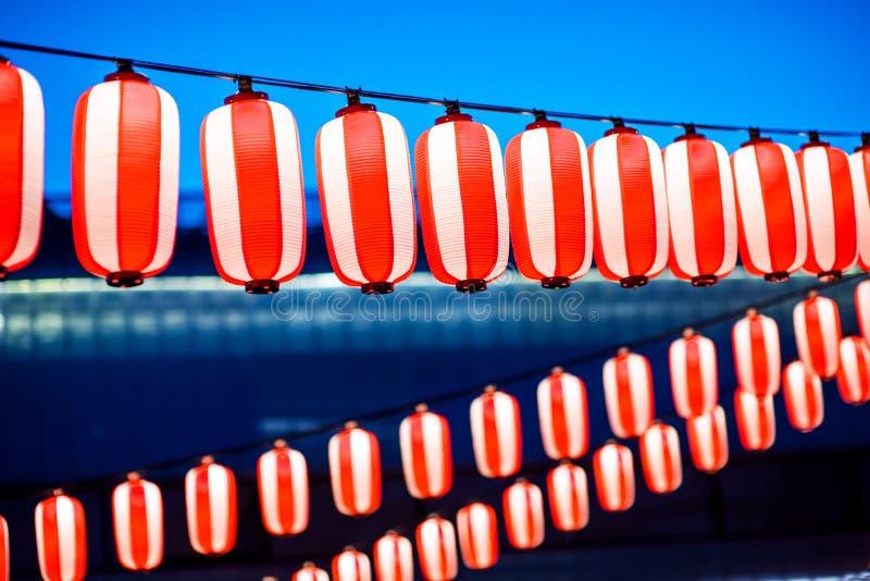 Lanternes rouges pendant le festival chinois de nouvelle année, foyer sélectif image stock