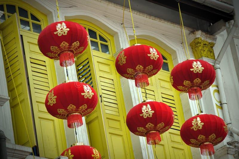 Lanternes traditionnelles chinoises images stock