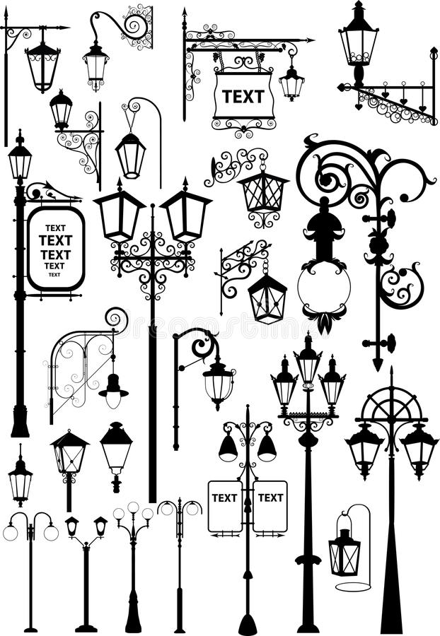 Lanterns stock illustration
