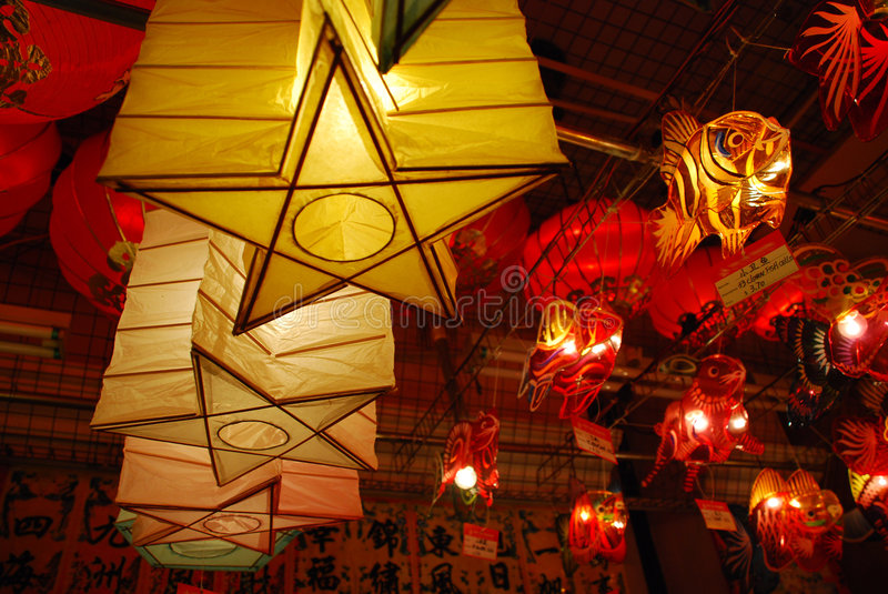 Lanterns 5. Lanterns are used in Asia for many reasons. From the mooncake festival, Chinese lunar new year to simply bringing good luck. These pictures are stock photos