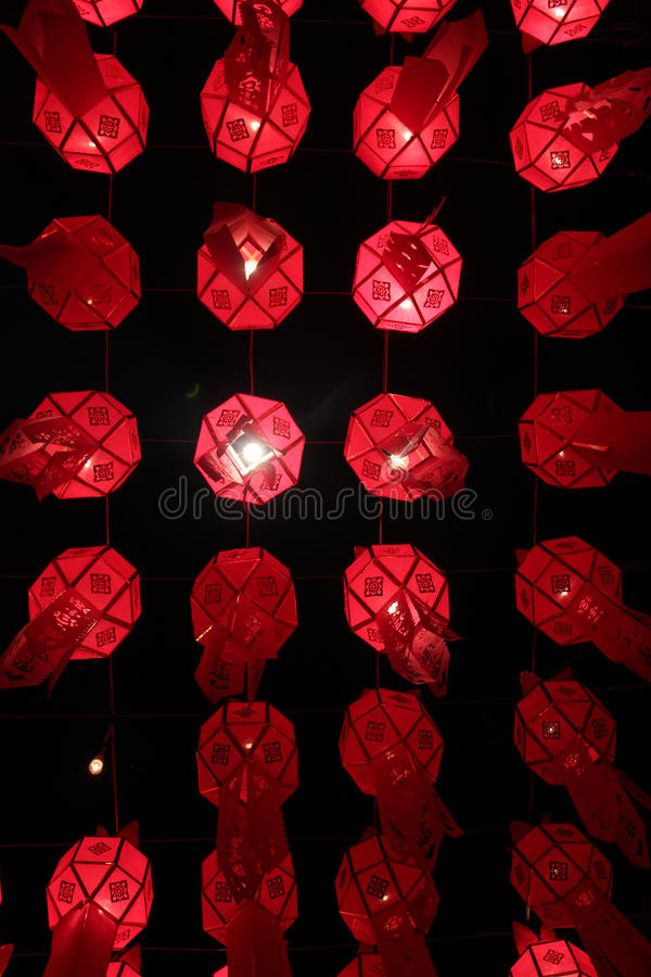 Lanterns from Below stock photography