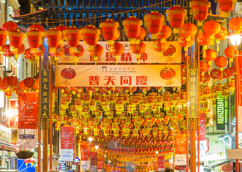Lanterns in China Town for Chinese New Year