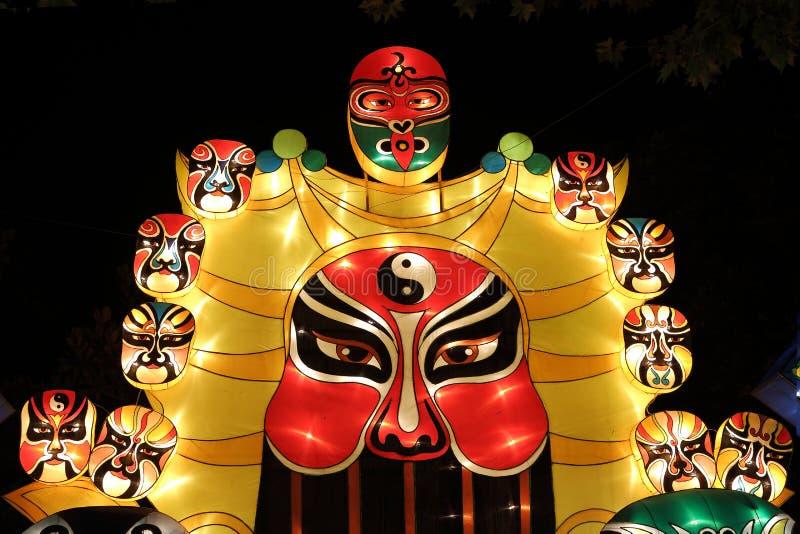 Lanterns exhibition. Peking Opera styles of makeup stock photos