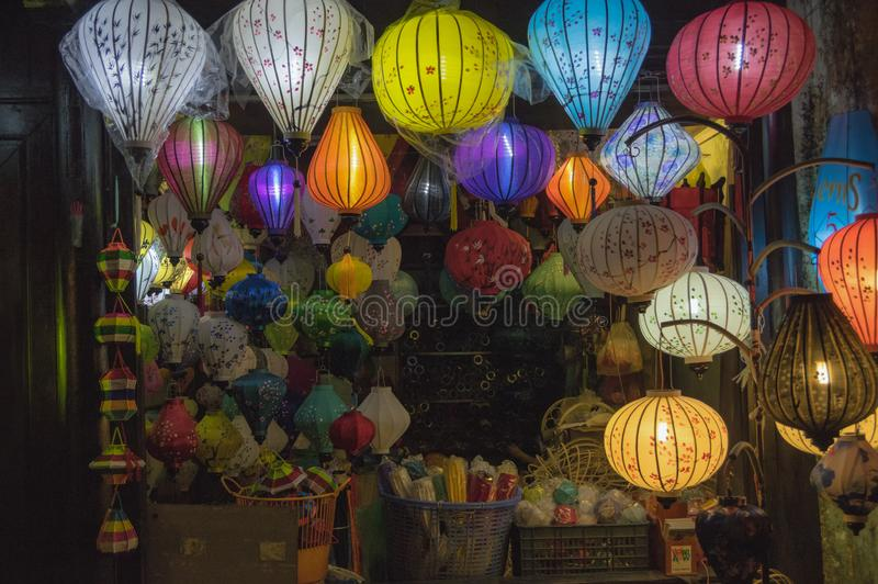 Lanterns, fine arts and handicraft in Hoi An old town, Vietnam. This region is the world`s cultural heritage, held UNESCO part 7. Lanterns, fine arts and stock photography