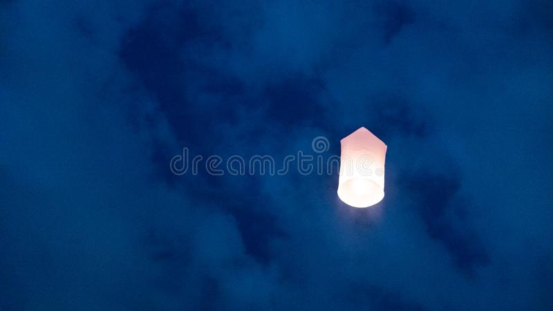 Lanterns floating in the sky royalty free stock images