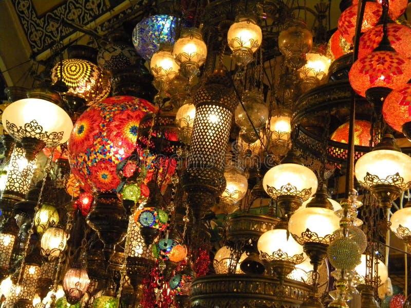 Lanterns at Grand Bazaar, Istanbul royalty free stock photography