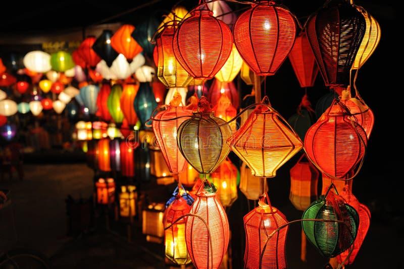 Lanterns at Hoi An, Vietnam stock photography