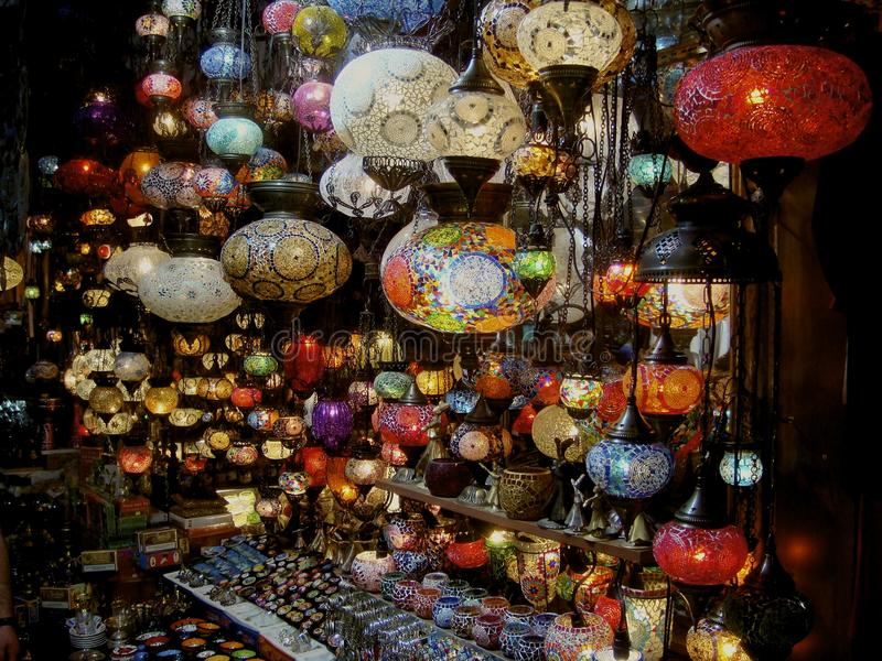 Lanterns of Istanbul stock photography