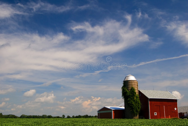 Lantgård Illinois Arkivbilder