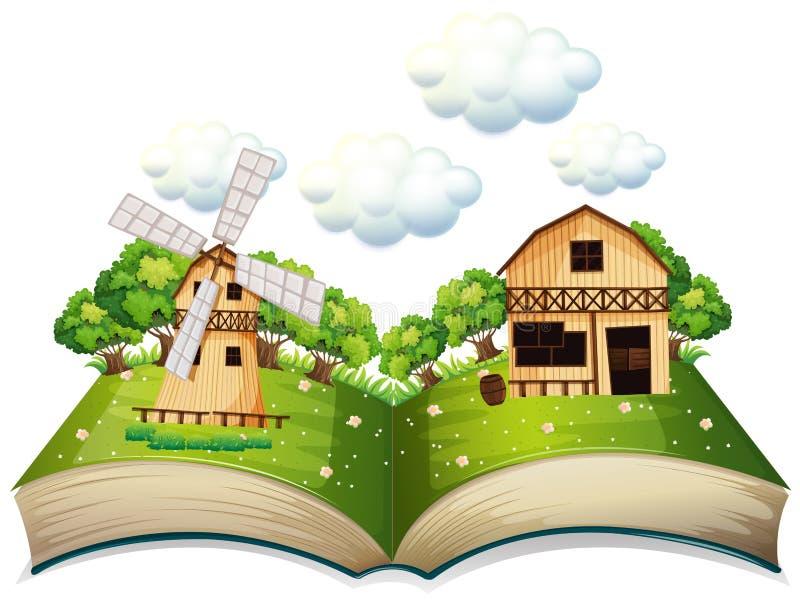 Lantgårdbok vektor illustrationer
