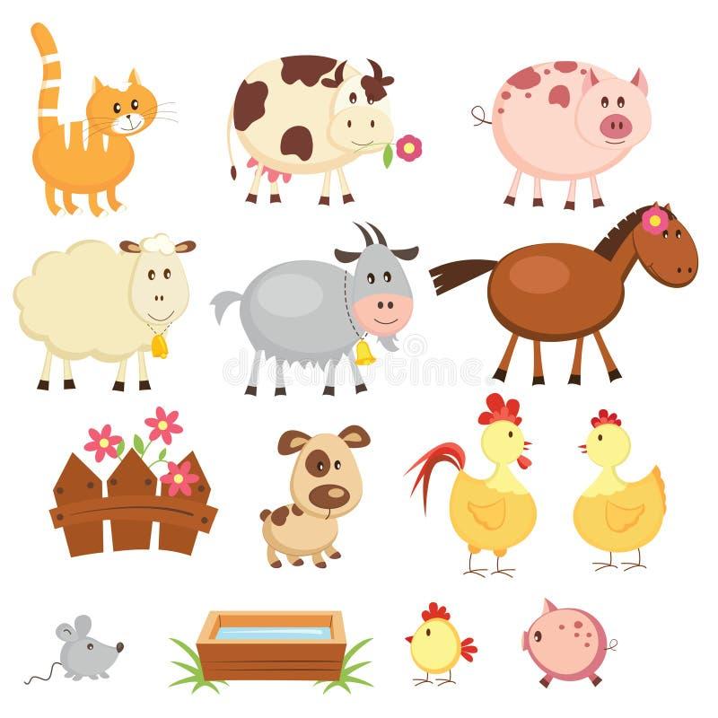 Lantgårddjur vektor illustrationer