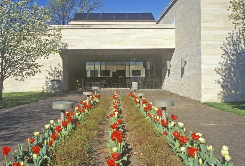 lantgårdgrandview harry huset missouri s truman Truman Presidential Library självständighet, MO royaltyfri foto