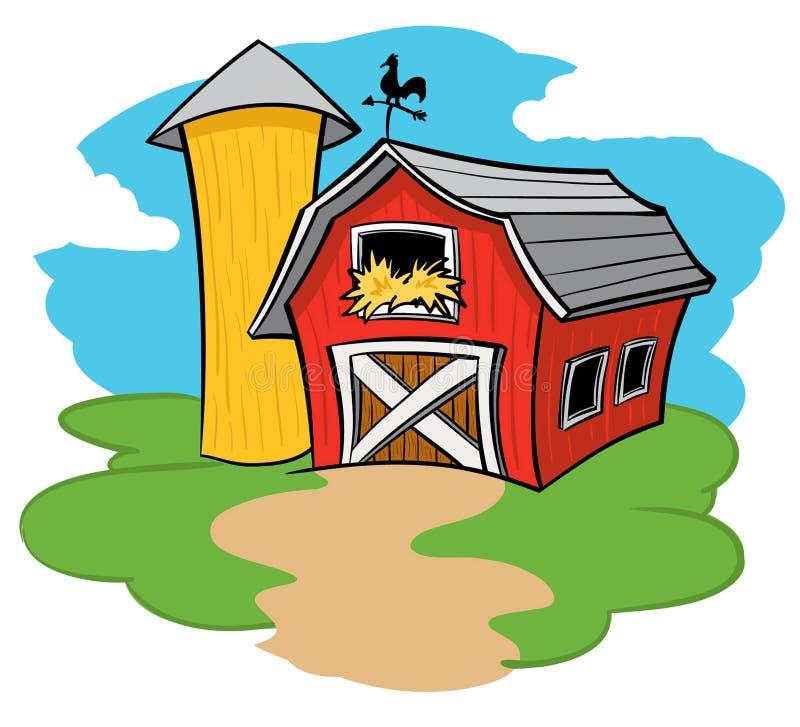 Lantgårdladugård stock illustrationer