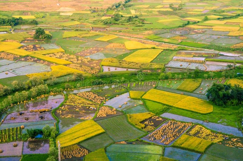 Lantgårdland i Huixian royaltyfri fotografi
