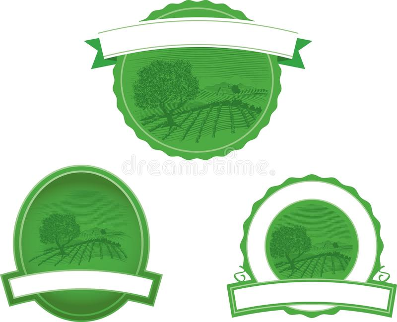 lantgårdplatsträsnitt vektor illustrationer