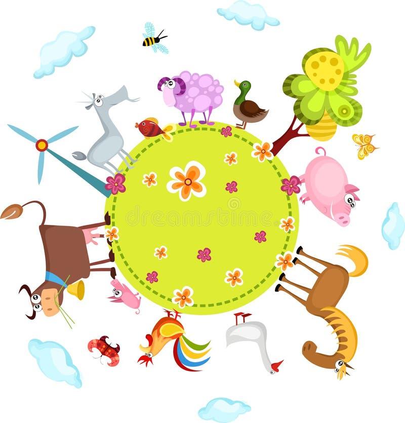 lantgårdset stock illustrationer