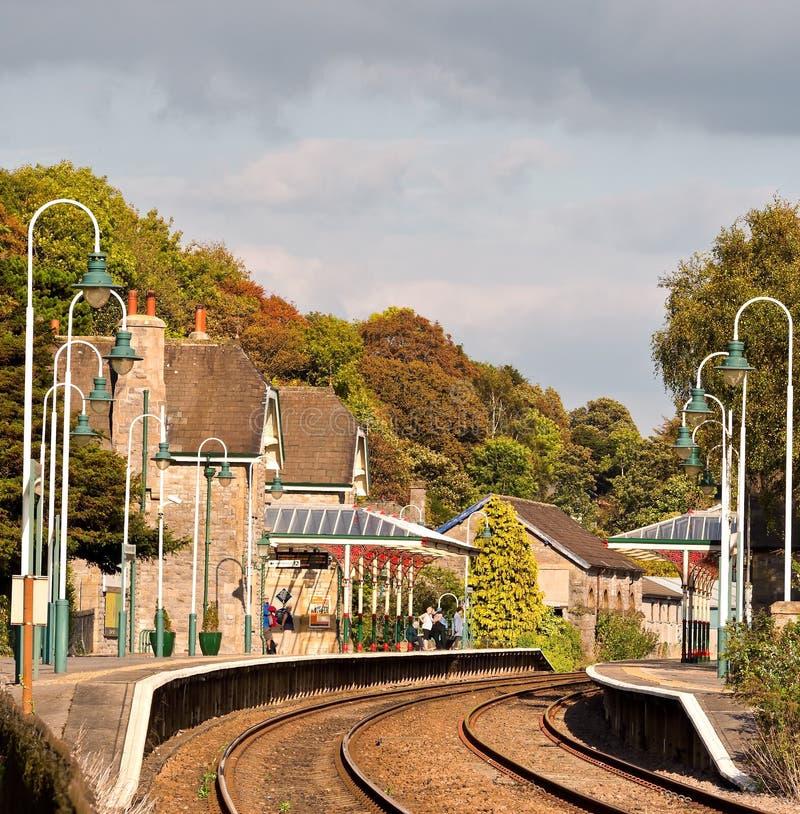 Lantgårdstation arkivfoto