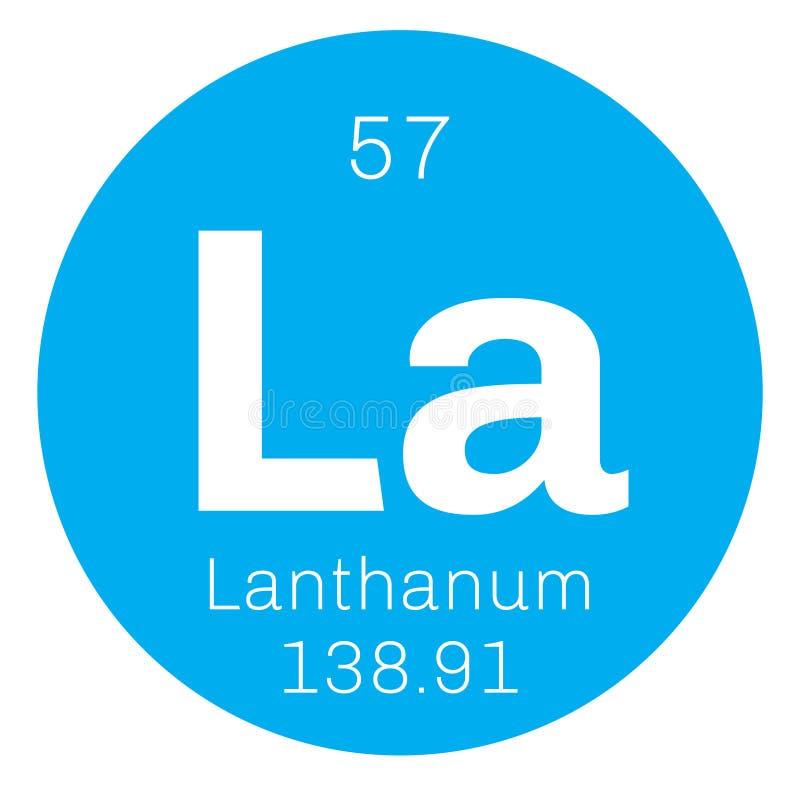 Lanthaan chemisch element stock illustratie