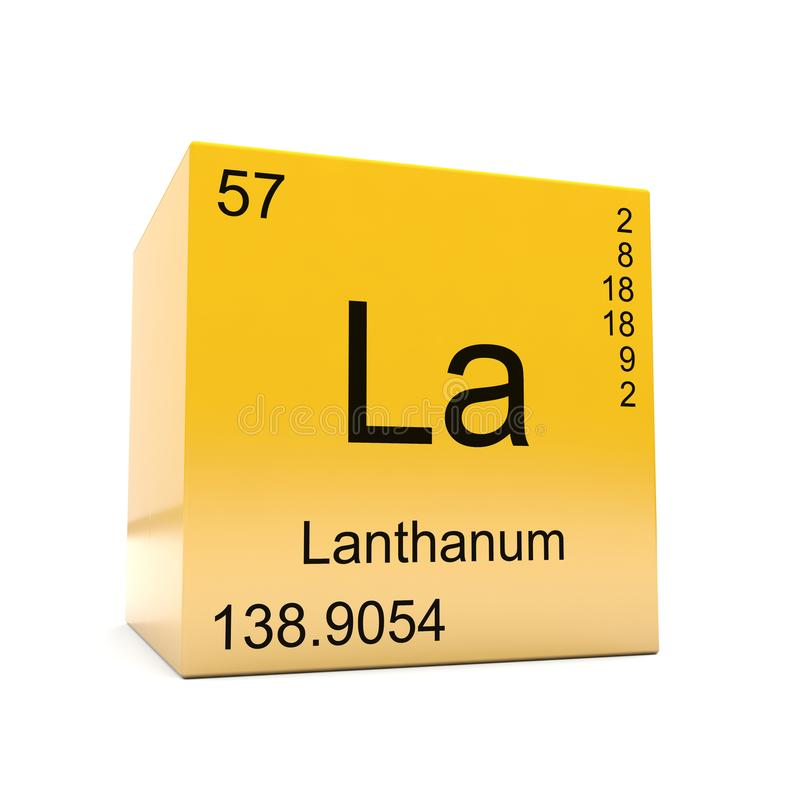 Lanthanum Chemical Element Symbol From Periodic Table Stock