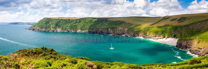 Lantic Bay Cornwall England stock image