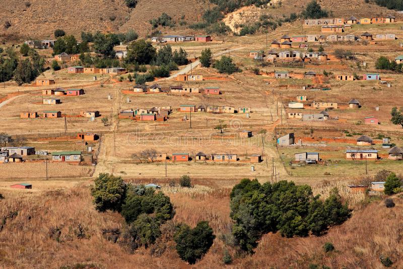 Lantlig bosättning - Sydafrika arkivbild