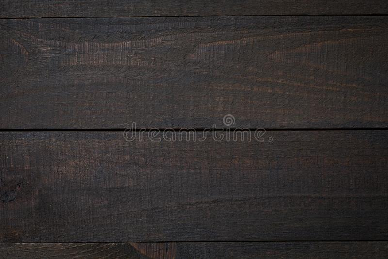 Lantlig flatlay trätabell - tom ekyttersida Bästa sikt med fritt utrymme för kopieringstext arkivfoton