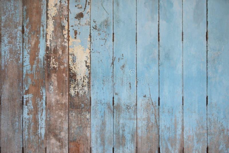 Lantlig gammal blå träbakgrund Wood plankor royaltyfri bild
