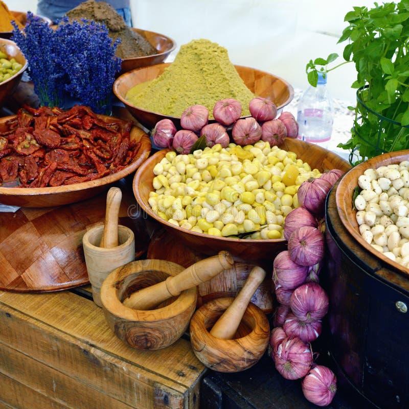 Lantlig grönsakmarknad, Provence royaltyfri fotografi