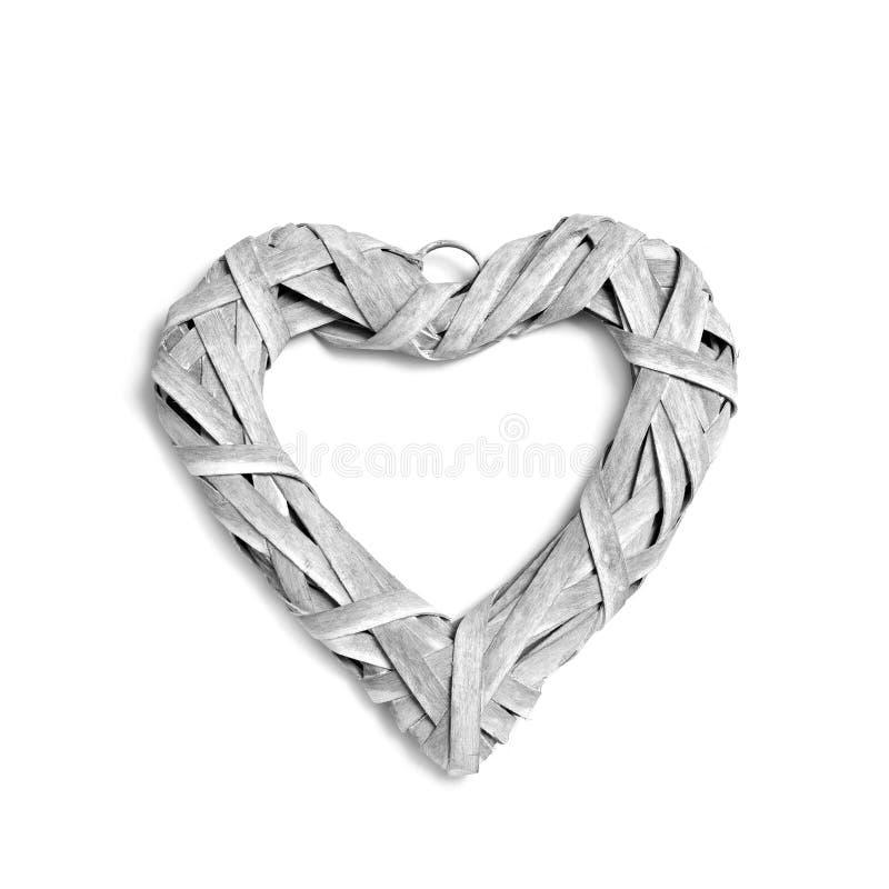 Lantlig hjärta-formad prydnad arkivfoton