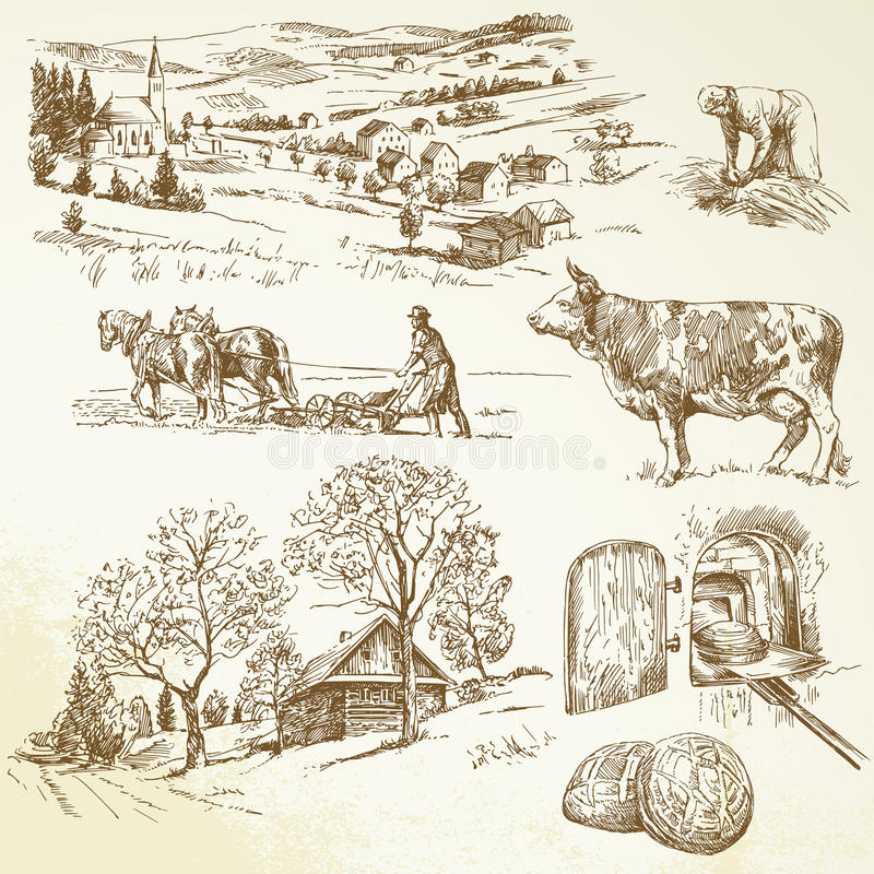 Lantlig Liggande, Jordbruk Royaltyfri Bild