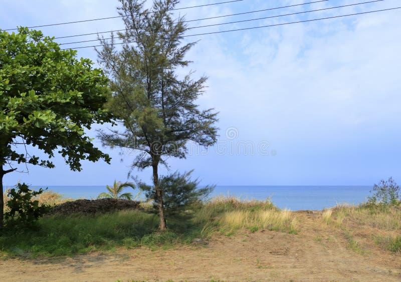 Lantlig oceanfront royaltyfria foton