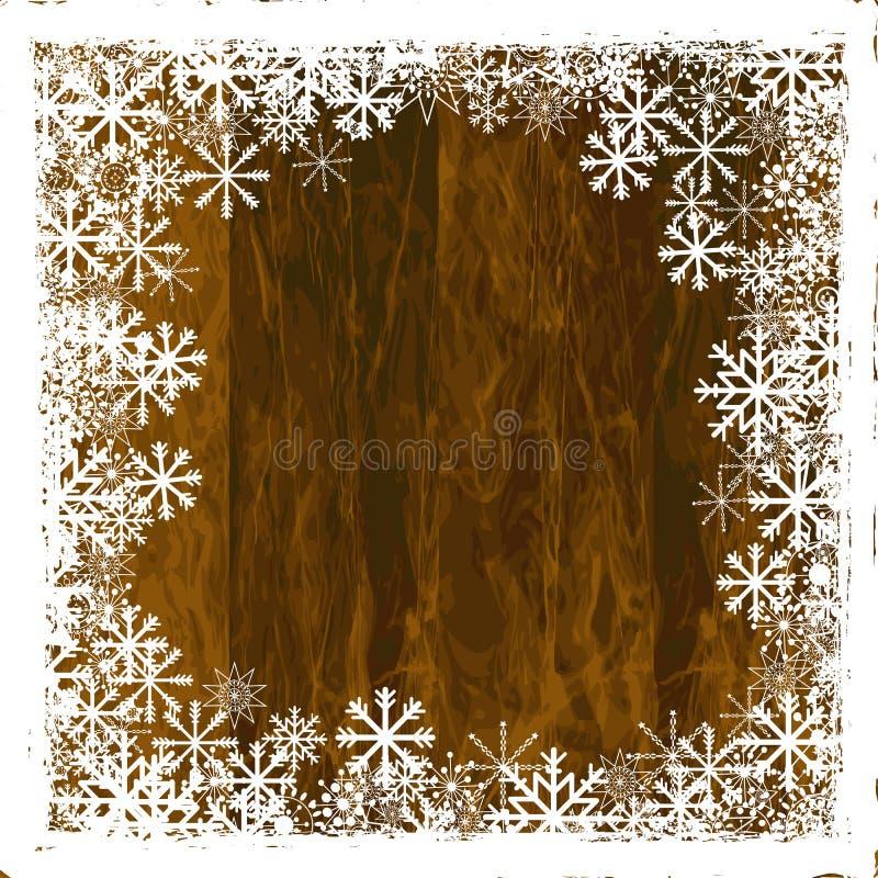 Lantlig ram för vinter royaltyfri illustrationer