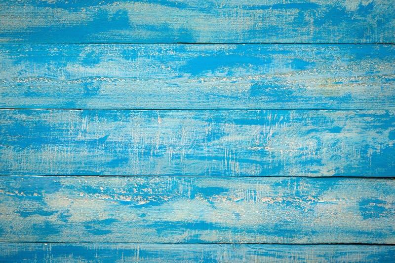 Lantlig sjaskig horisontalbakgrund för gamla blåa Wood Slats royaltyfri bild