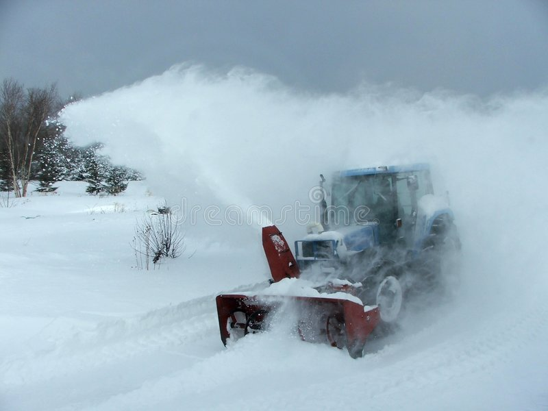 lantlig snow för blåsareKanada qc royaltyfri foto
