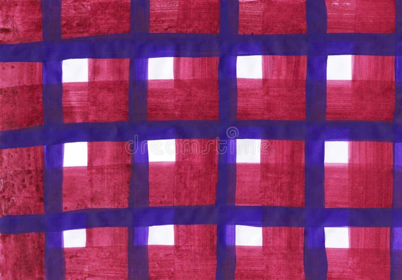 Lantlig tartanbakgrund i en traditionell stil vektor illustrationer