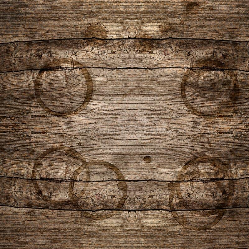 Lantlig träbakgrund med fläckar arkivfoton