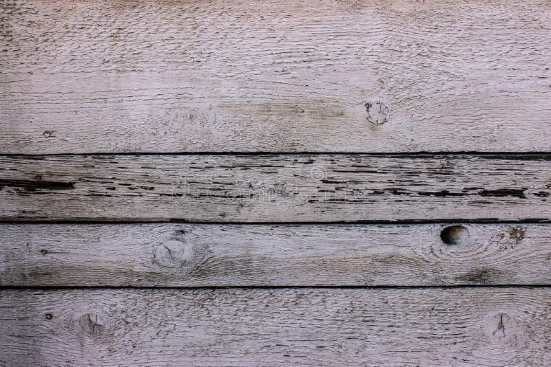 Lantlig träpanel för vit tappning med horisontalmellanrum arkivfoto