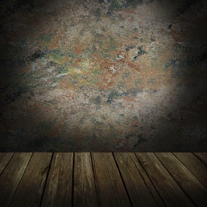 Lantlig vägg arkivfoto