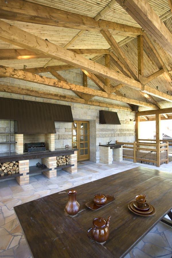 lantlig veranda för hus royaltyfri fotografi